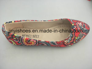 New Lady Shoes Inner Door Flat Fabric Multi Color Pointed Toe Hot Sales pictures & photos