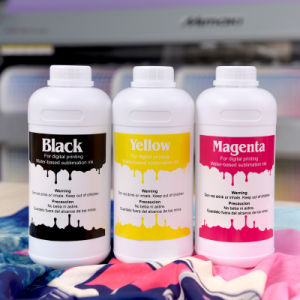 Neon/ Flouresent Yellow & Megant Dye Sublimation Ink on Epson F6070/Mutoh/Mimaki/Sublinova/J Teck pictures & photos