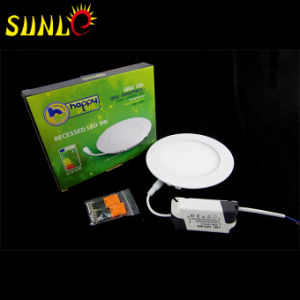 9W Round Flush-Type Cheap LED Panel Light Manufacturers (SL-MBOO9) pictures & photos