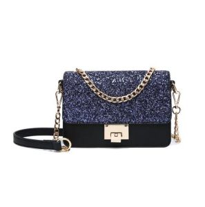 2017 New Arrival Shiny Fashion Hand Bag Metal Chain Crossbody Bag Hcy-5055 pictures & photos