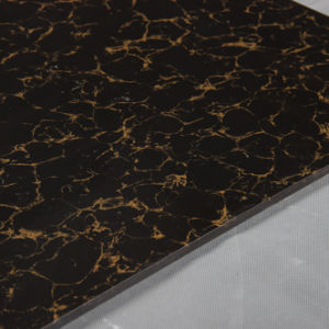 Building Material Double Loading Black Yellow Pulati Polished Porcelain Tile Vitrified Floor Tile Good Price pictures & photos