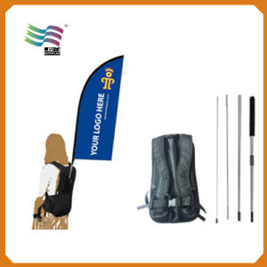 Teardrop Warp Knitting Polyester Backpack Bag Flag (A-m123) pictures & photos