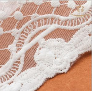 Guipure Lace Trimming/Embroidery Lace Fabric /Bridal Tulle Mesh Lace pictures & photos