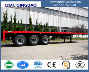 Cimc 40FT Container Flatbed Semi Trailer with Two-Axle Tri-Axle Truck Chassis pictures & photos