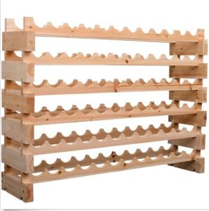 72 Bottle 6 Tier Shelf Wine Rack Holder Standing Holds Storage Fir Wood Cellar pictures & photos