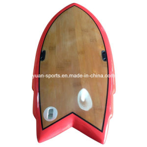 Hand Board Surfboard with Polished Bamboo Veneer Surface pictures & photos