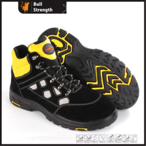 Cow Suede Leather Safety Shoes with New PU/Rubber Sole (SN5465) pictures & photos