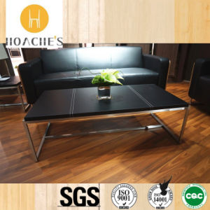 Tempered Glass Tea Table with Stainless Steel Leg (S210) pictures & photos