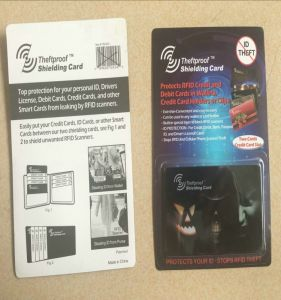 Credit Card Passport Anti-Theft RFID Blocking Card with Approvals. pictures & photos
