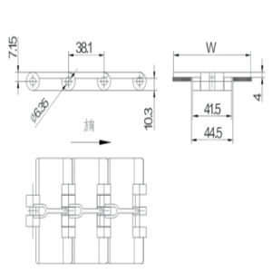 Straight Run Single Hinge Plastic Table Top Chain (820-K325) pictures & photos