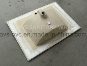 Sanitary Ware One Piece Thin Edge Ceramic Wash Basin with Cupc pictures & photos
