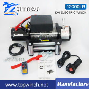 SUV 4X4 12V DC Electric Winch Truck Winch Auto Winch (12000lb) pictures & photos