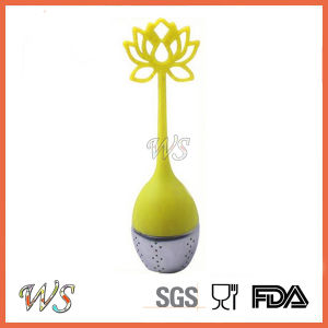 Ws-If045 Tea Infuser Loose Leaf Tea Tool Stainless Steel Ball Silicone Handle (Lemon) pictures & photos