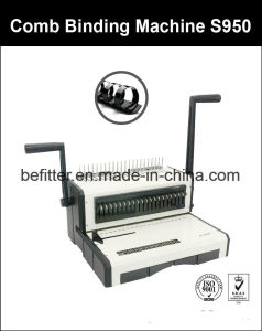 S950 A4 Size Base Heavy Duty Comb Binding Machine pictures & photos