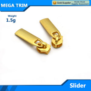 Fashion Wholesale Gold Custom Alloy Zipper Slider pictures & photos