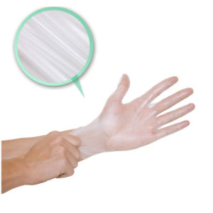 Disposable Powder Free PVC Vinyl Work Gloves pictures & photos