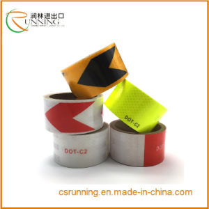 Self Adhesive PVC Arrow Conspicuity Reflective Warning Tape