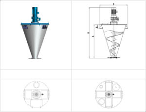 Save-Energy Double Screw Cone Mixer/Dryer/Mixing Equipment pictures & photos