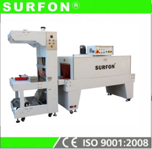 Semi-Auto Sleeve Shrink Strapping Machinery for bottle Water with Tray pictures & photos