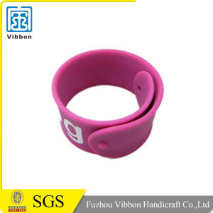 Factory Directly Custom Design Silicone Rubber Slap Bracelet pictures & photos