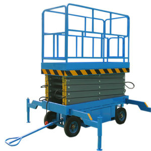 Aerial Work Platform Mobile Scissor Lift Max Height 8m) pictures & photos