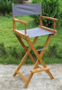 High Quality Garden Furniture Wooden Camping Fishing High Chair pictures & photos