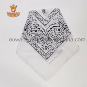 Cheap Promotional Printing Multi-Purpose Paisley Cotton Square Handkerchief Bandana pictures & photos