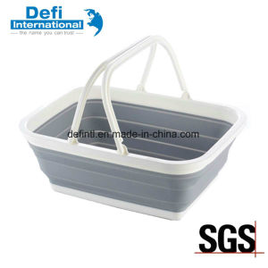 Foldable Plastic Hand Basket for Kitchen pictures & photos