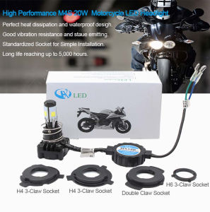 High Performance M4s H4 20W for Motorcycle LED Headlight pictures & photos