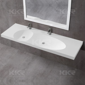 Modern Hotel Solid Surface Wall Hung Basin pictures & photos