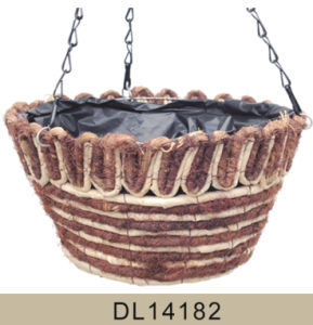 Unique Maize Rope and Brush Wood Hanging Flower Basket pictures & photos