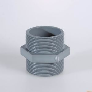 Grey PVC Nipple Threaded Fittings pictures & photos