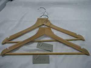 Natural Wood of Garment Usage Top Wooden Hanger pictures & photos