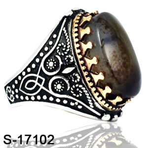 Hot Selling Copper Ring with Natural Stone for Man pictures & photos
