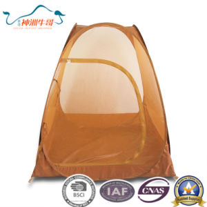 Hot 190t Polyester with Silver Coating with Mesh Pop up Tent