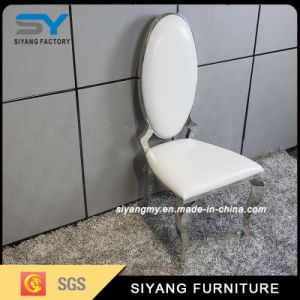 Hotel Furniture Metal Legs White Dining Chair pictures & photos
