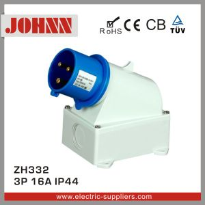 IP44 3p 16A Surface Mounted Plug for Industrial pictures & photos
