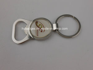 Bottle Opener Key Ring, Silver Plated Keychain (GZHY-Ka-131) pictures & photos