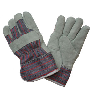 Boa Full Lining Leather Paste Cuff Winter Warm Work Gloves for Rigger pictures & photos