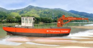 Excavator Barge in River for Sale pictures & photos