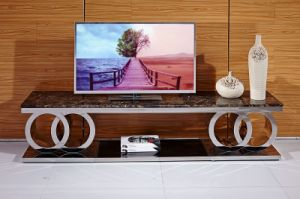 Marble Top Metal TV Stand Furniture New Design pictures & photos