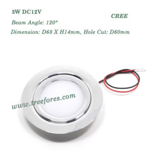 3W 12V Stainless Steel Ceiling Downlight for Cabinet Kitchen pictures & photos