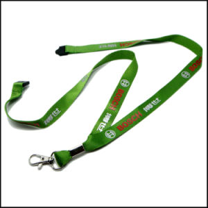 Promo Silk Screen Printing Logo Nylon Lanyard with Safety Buckle pictures & photos