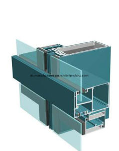 Jm140 Series Curtain Walls Aluminium Alloy Extrusion Profile for Door and Window pictures & photos