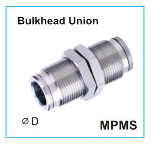 Metal Push-in Fittings Ss316 Bulkhead Union Mpms