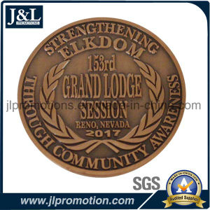 Customer Design 3D Copper Metal Coin in Antique Brass Finish pictures & photos