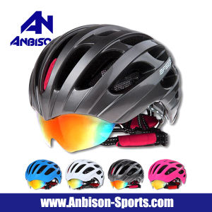 Hot Sale Outdoor Cycling bicycle Wear Helmet with Goggle pictures & photos