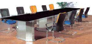 Stainless Steel Leg Tempered Glass Conference Meeting Table /Desk (HX-GL060) pictures & photos