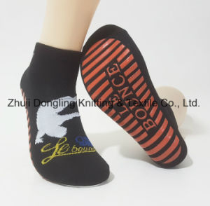 Custom Anti Slip Kids Jump Trampoline Socks pictures & photos