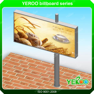 Unipole Billboard Display Structure Aluminum Scrolling Light Box Billboard pictures & photos
